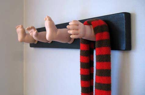 baby doll coat rack - Funky Coat Racks