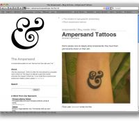 ampersand, the blog