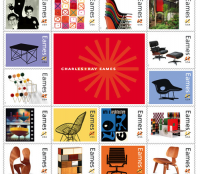 Charles and Ray Eames Postal Stamps