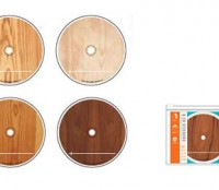 Wood Grain CD Stickers