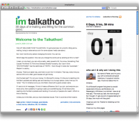 i'm talkathon | 30 days of e-mailing and IMing for the common good.
