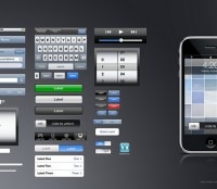 iPhone GUI psd file