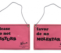 hotel door hangers collection