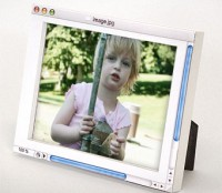photoshop photo frame: the first ever analog digital photo frame