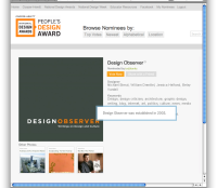 Cooper-Hewitt People's Design Award. Cast your vote!