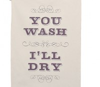 You Wash, I'll Dry