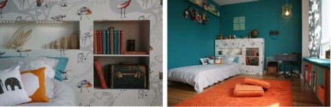 Do you need a fantastic funky headboard for your kid\u0027s room? My wonderful office mate and friend Jennifer Ward designed a room for the Cookie House and is ... & swissmiss | Fantastic Headboard for your kid\u0027s room?