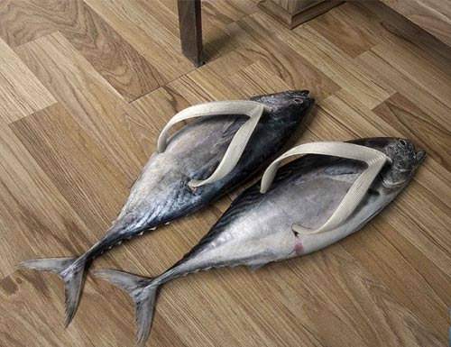 funny products. flip-flops, funny products