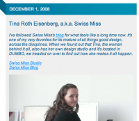 swissmiss on DesignGlut