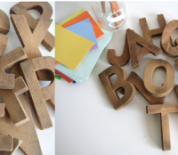 Antique Carpenter Wood Letters